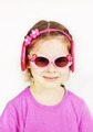 Smiling little cute girl wearing pink sunglasses - PhotoDune Item for Sale