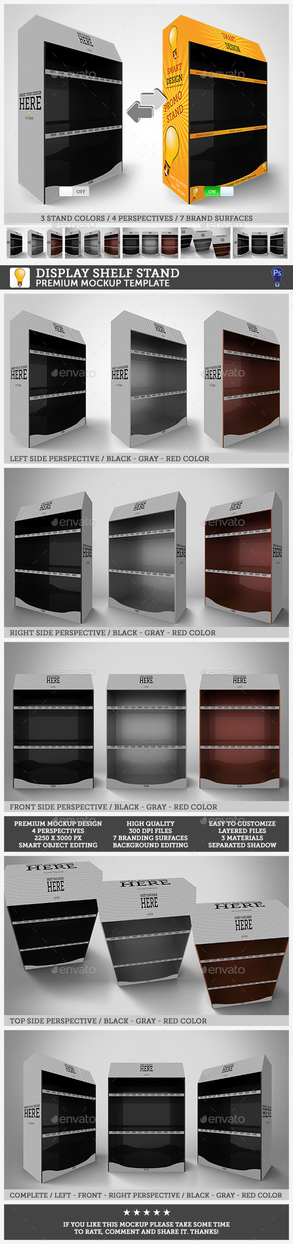 GraphicRiver Promotional Shelf Display Mockup 11354257