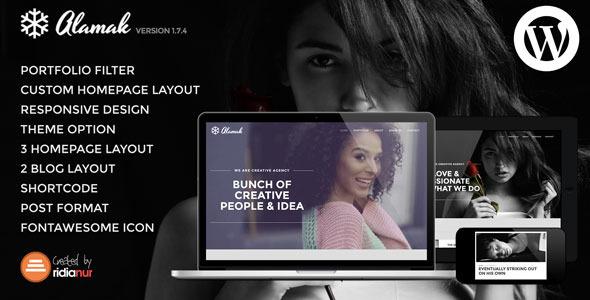 Alamak - Responsive One Page Portfolio Theme - Portfolio Creative