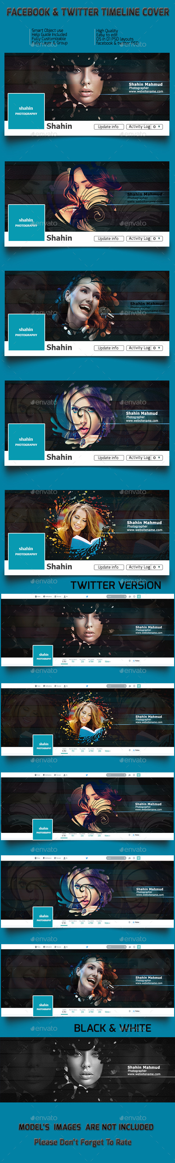 GraphicRiver Facebook and Twitter Timeline 11354478