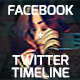 Facebook and Twitter Timeline  - GraphicRiver Item for Sale
