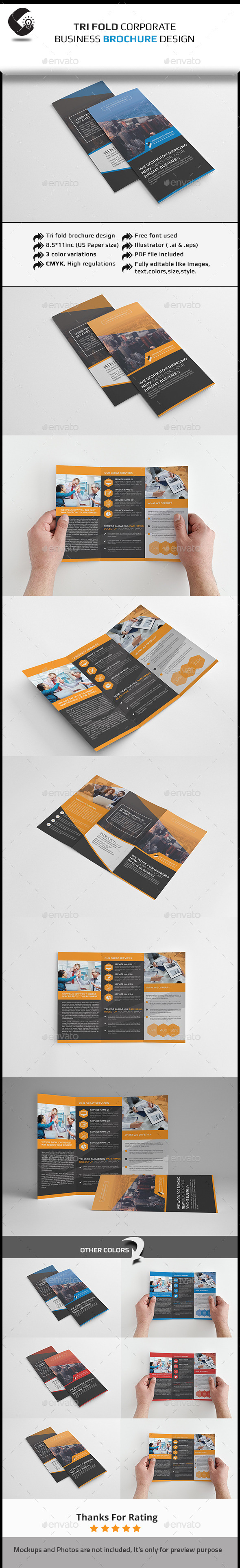 GraphicRiver Tri-Fold Corporate Brochure-Multipurpose 11354556