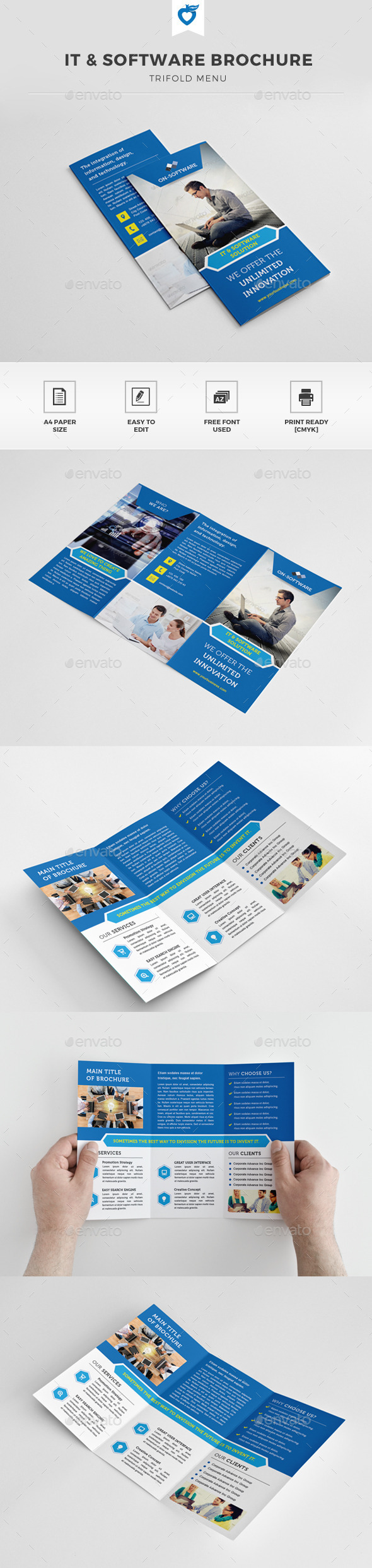 GraphicRiver IT & Software Business Trifold Brochure 11354590