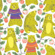 Bear and Raspberry - GraphicRiver Item for Sale