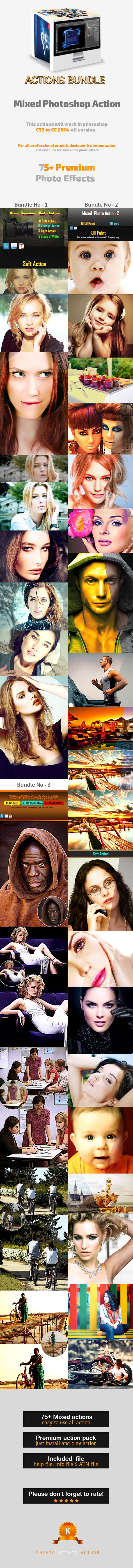 GraphicRiver Mixed Photoshop Actions Bundle 11355233