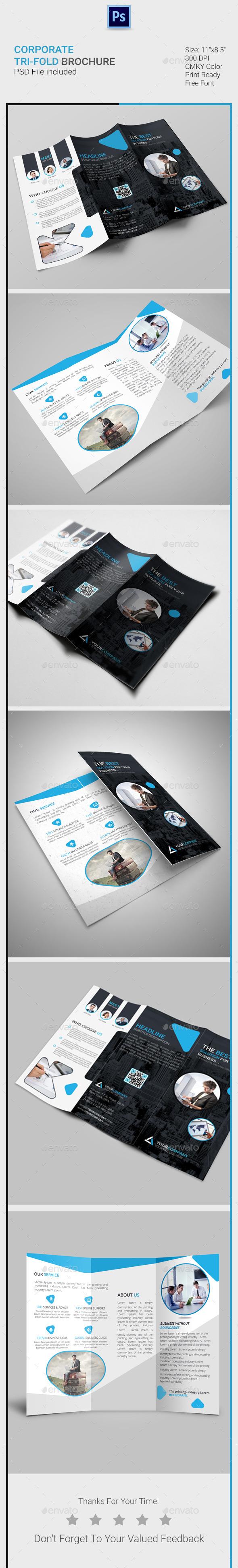 GraphicRiver Corporate Tri-Fold Brochure 11355247