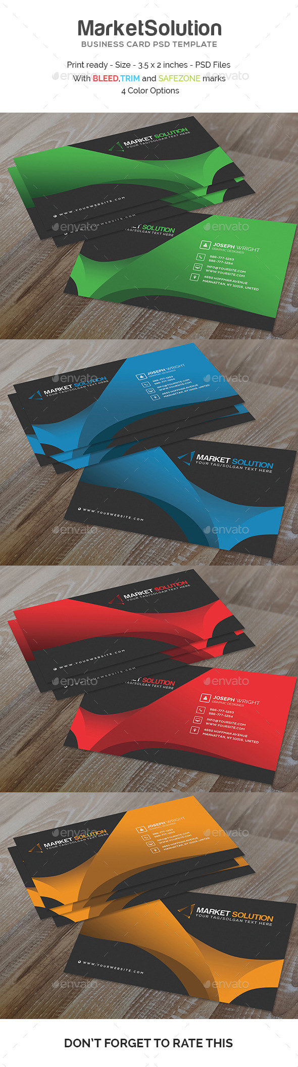 GraphicRiver Market Solution Business Card Template 11355260