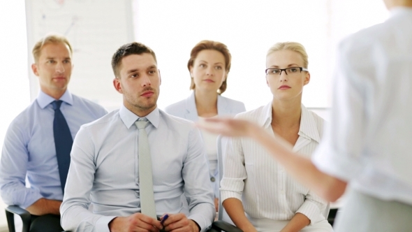 Business People On Presentation At Office