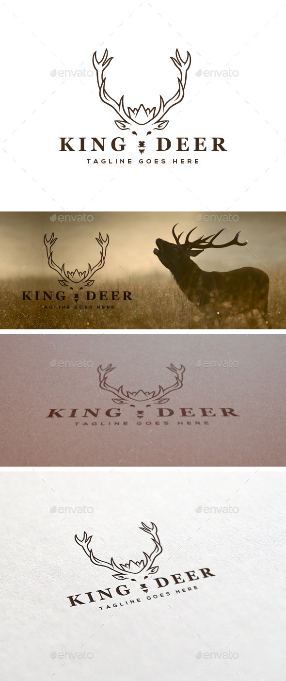 GraphicRiver King Deer Logo Template 11355352