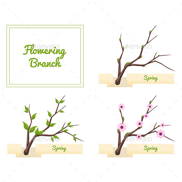 GraphicRiver Flowering Branch 11355495