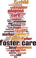 Foster Care Word Cloud Concept - PhotoDune Item for Sale