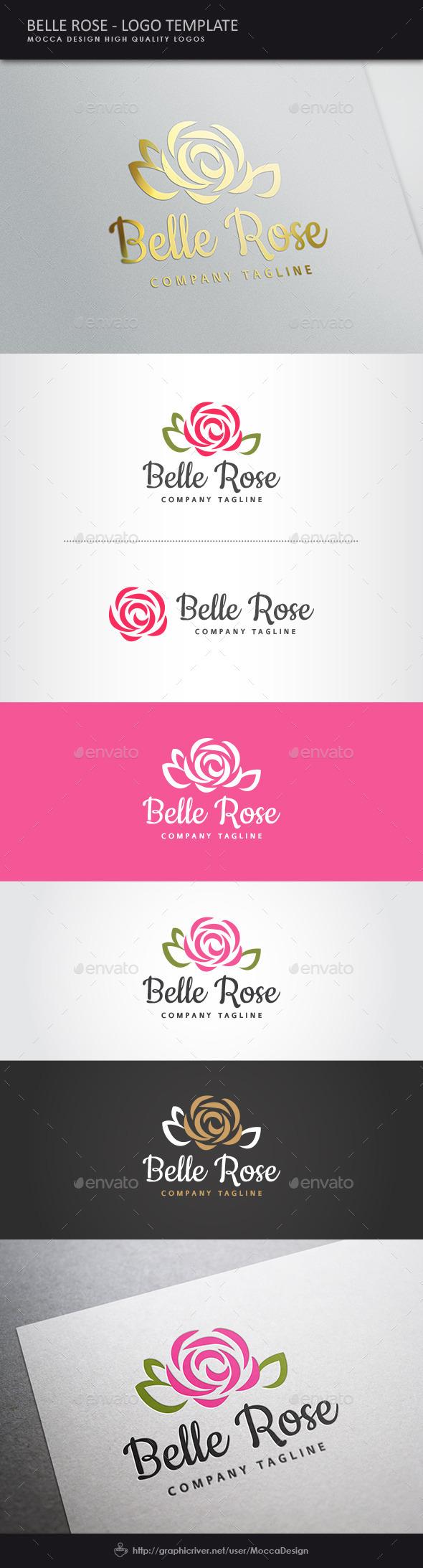 GraphicRiver Belle Rose Logo 11355565