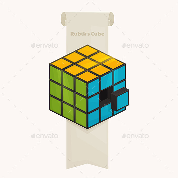 GraphicRiver Rubiks Cube and Ribbon 11355566