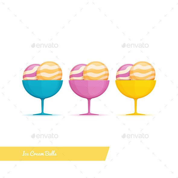 GraphicRiver Ice Cream Balls 11355585