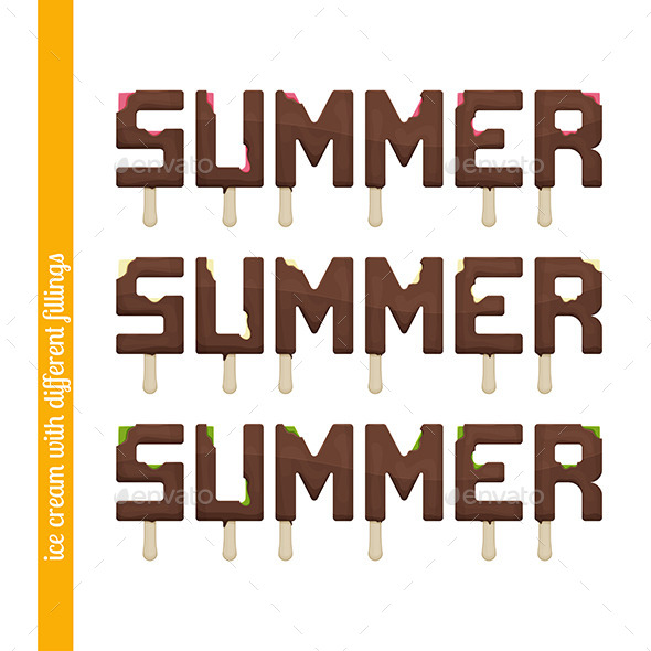 GraphicRiver Set Summer Ice Cream 11355610