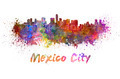 Mexico City skyline in watercolor - PhotoDune Item for Sale