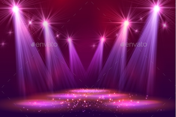 GraphicRiver Spotlights On Stage With Smoke Light 11356006