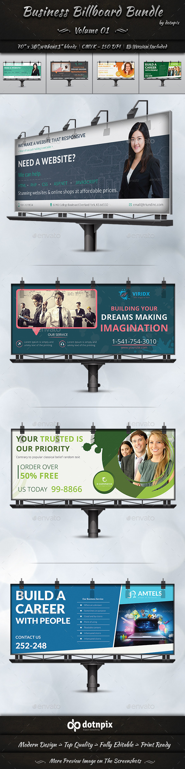 GraphicRiver Business Billboard Bundle Volume 1 11356345
