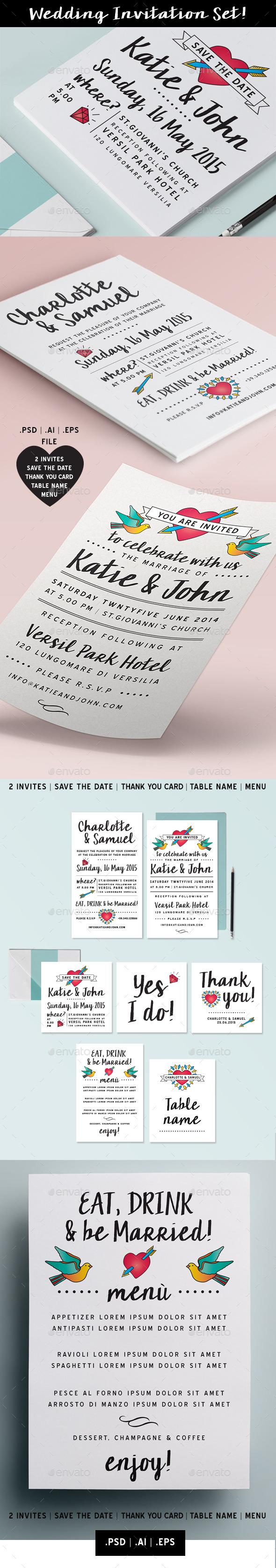 Wedding invitation Set vol. 6