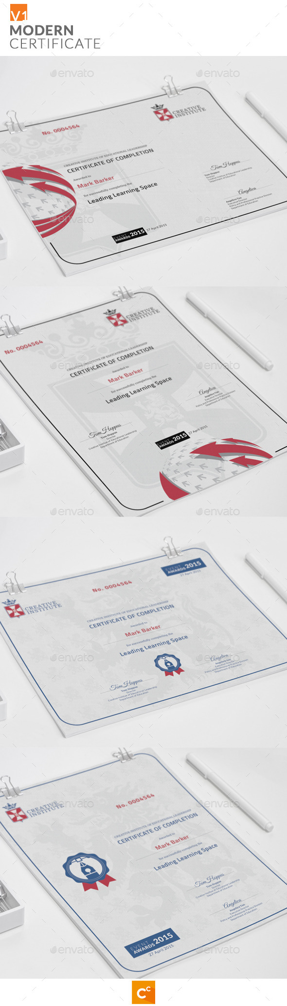 GraphicRiver Modern Certificate 11296365
