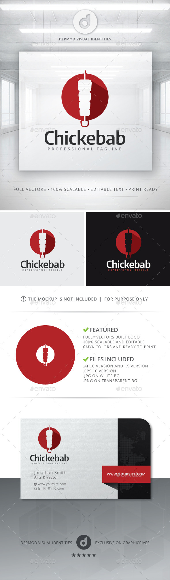 GraphicRiver Chickebab Logo 11356358