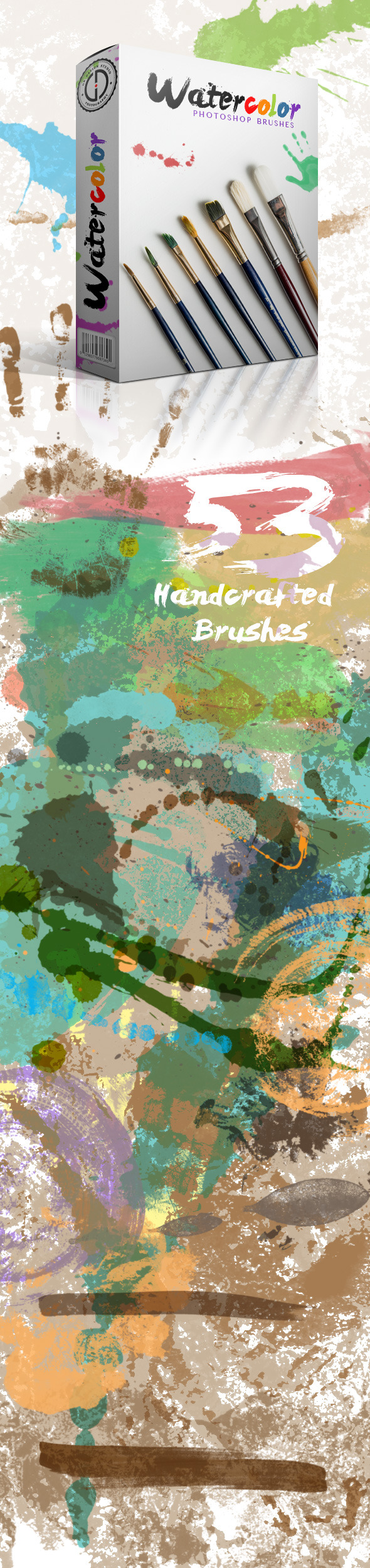 GraphicRiver Watercolor Brushes 11356373