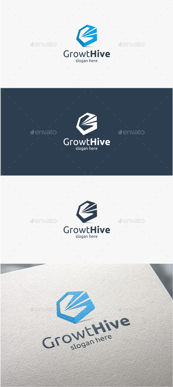 GraphicRiver Growth Hive Logo Template 11356401