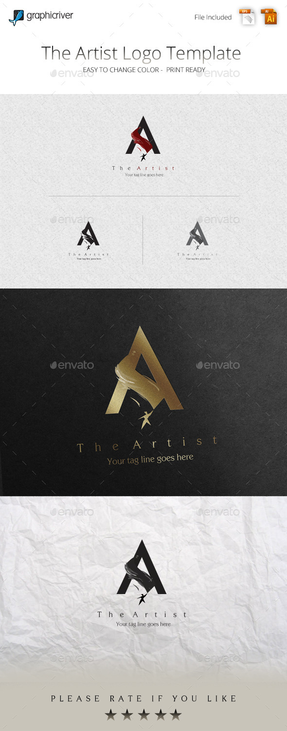GraphicRiver The Artist Logo Template 11356402