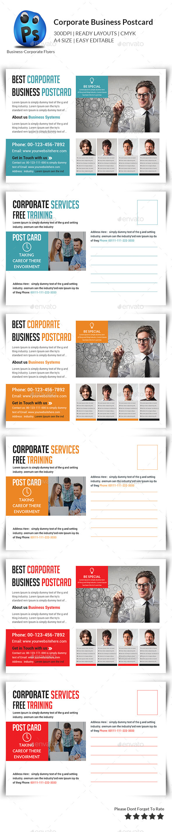 GraphicRiver Corporate Business Postcards 11356585