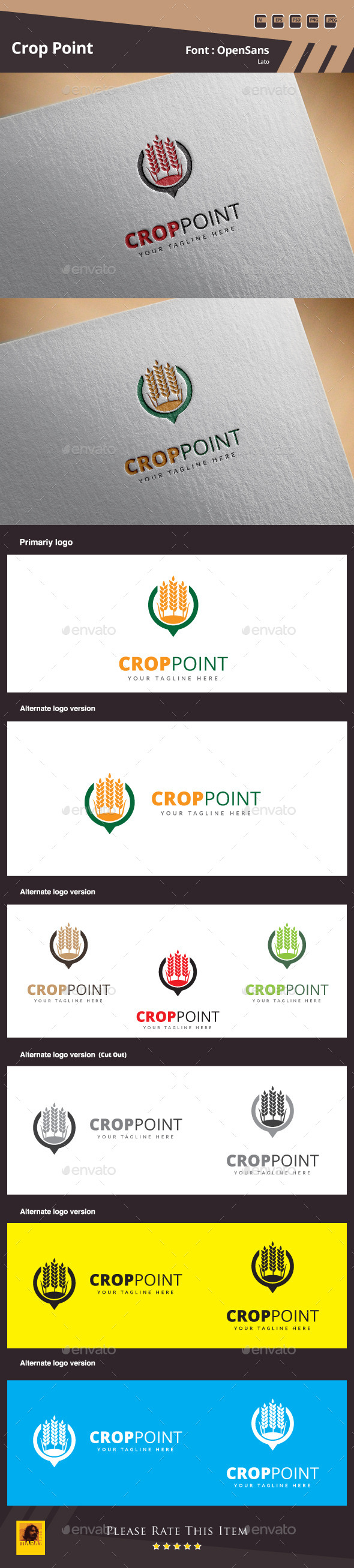 GraphicRiver Crop Point Logo Template 11356853