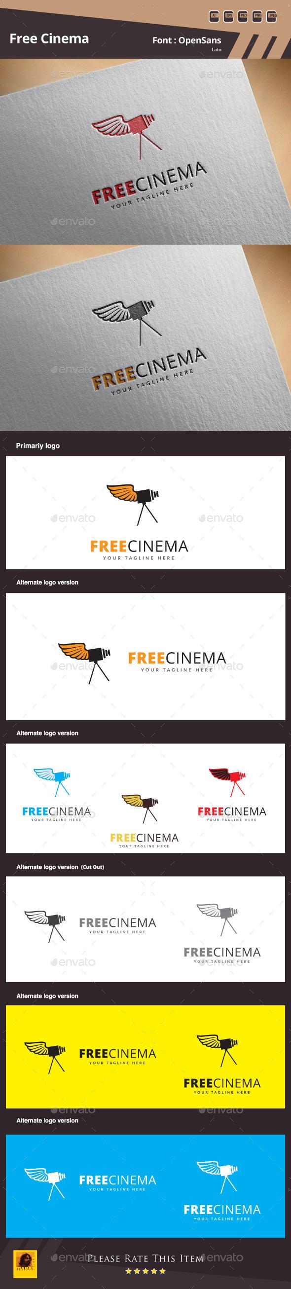 GraphicRiver Free Cinema Logo Template 11356875