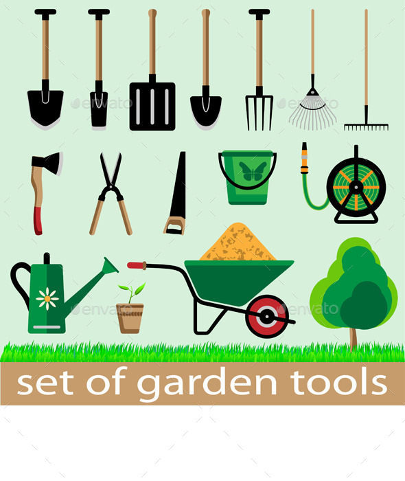 GraphicRiver Garden Tools 11357474