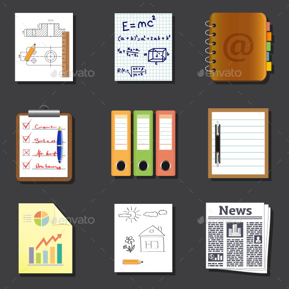 GraphicRiver Documents Icons 11357485