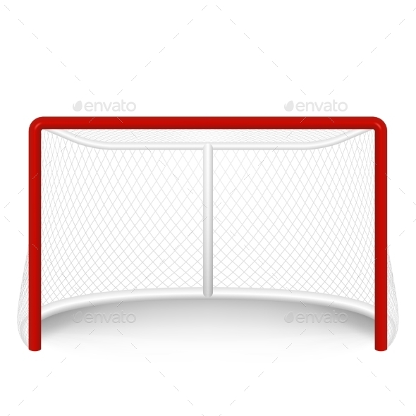 GraphicRiver Vector Red Hockey Goal Net Isolated On White 11357528