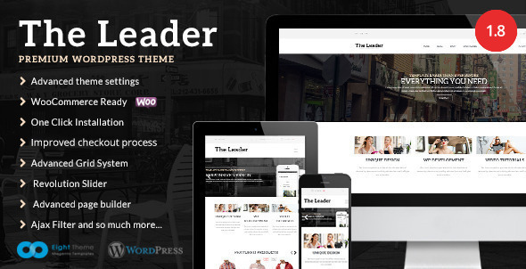 The Leader - Ecommerce Responsive M-Purpose Theme - WooCommerce eCommerce