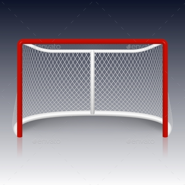 GraphicRiver Red Hockey Goal Net 11357556