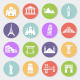 World landmarks flat icons  - GraphicRiver Item for Sale
