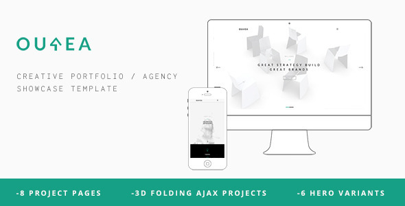 ThemeForest Ourea Creative Portfolio Agency Template 11357626