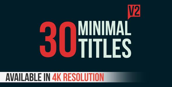 30 Minimal Titles V2 11357719 - Videohive shareDAE