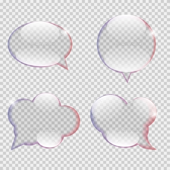 GraphicRiver Glass Transparency Speech Bubble Vector 11357723