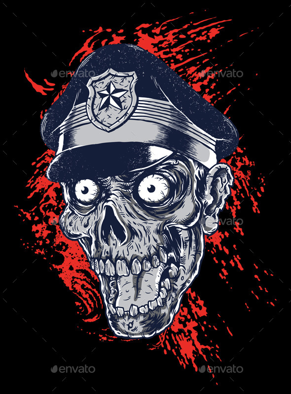 GraphicRiver Zombie Head Police 11357727