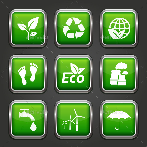 GraphicRiver Ecology and Recycle Web Buttons 11357762
