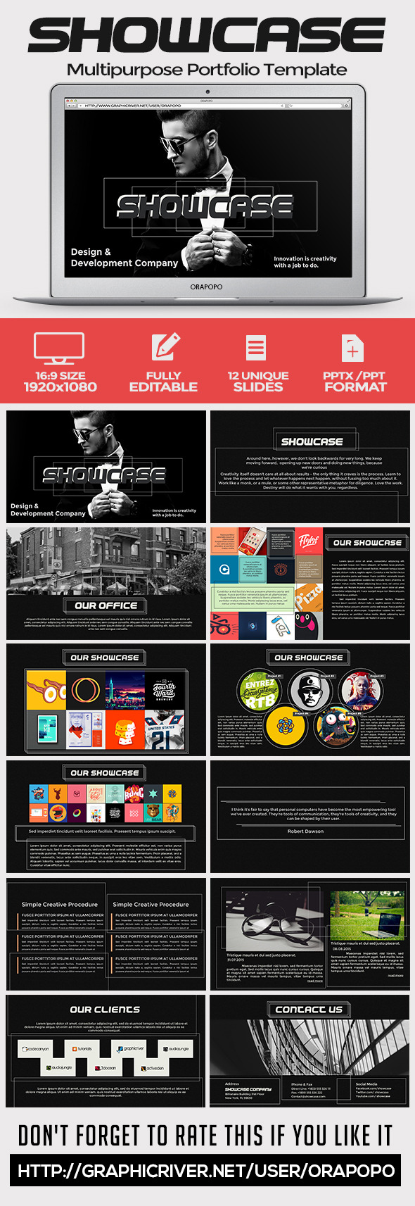 GraphicRiver Showcase Multipurpose Portfolio Template 11318251