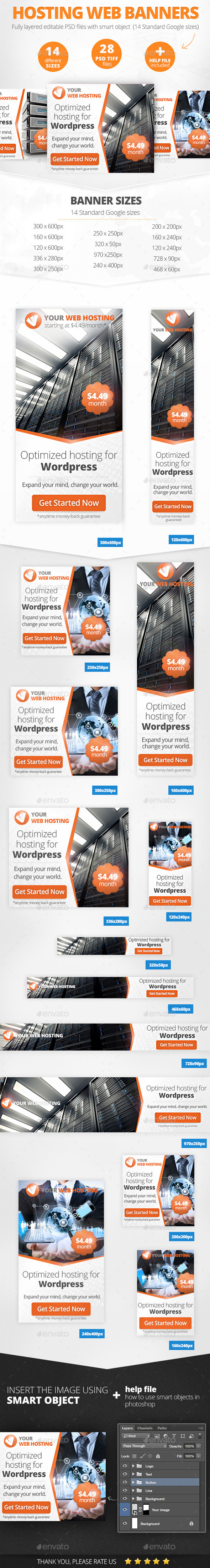 GraphicRiver Web hosting Banners 11358322
