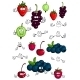 Healthy Berries and Fruit Characters - GraphicRiver Item for Sale