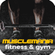 Muscle Mania Fitness and Gym Template - GraphicRiver Item for Sale
