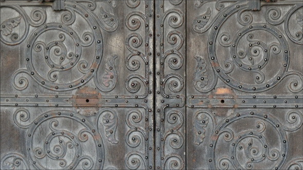 The Beautiful Big Door of the Westminster Abbey