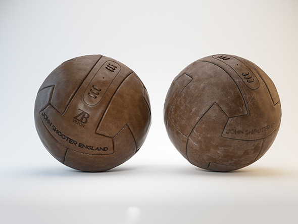 3DOcean Vintage Soccer Football Ball 11358573