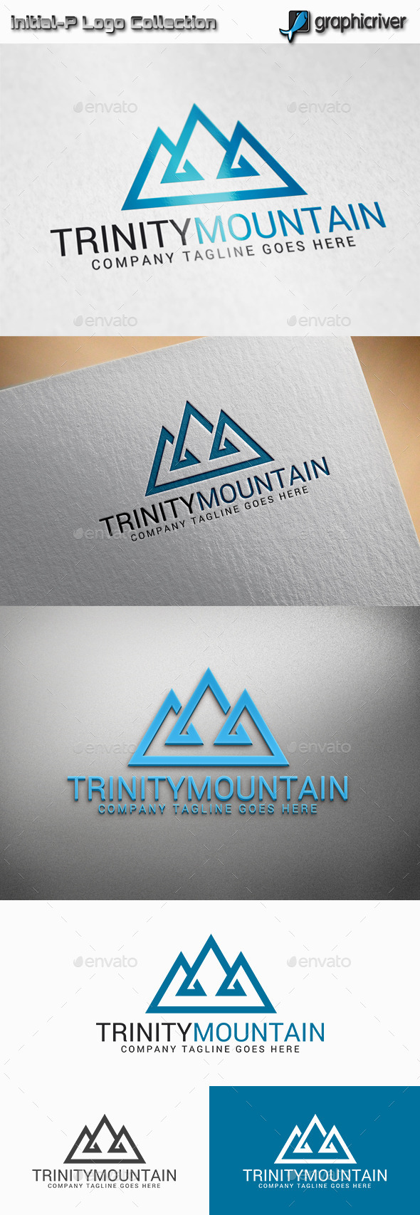 GraphicRiver Trinity Mountain Logo 11358721