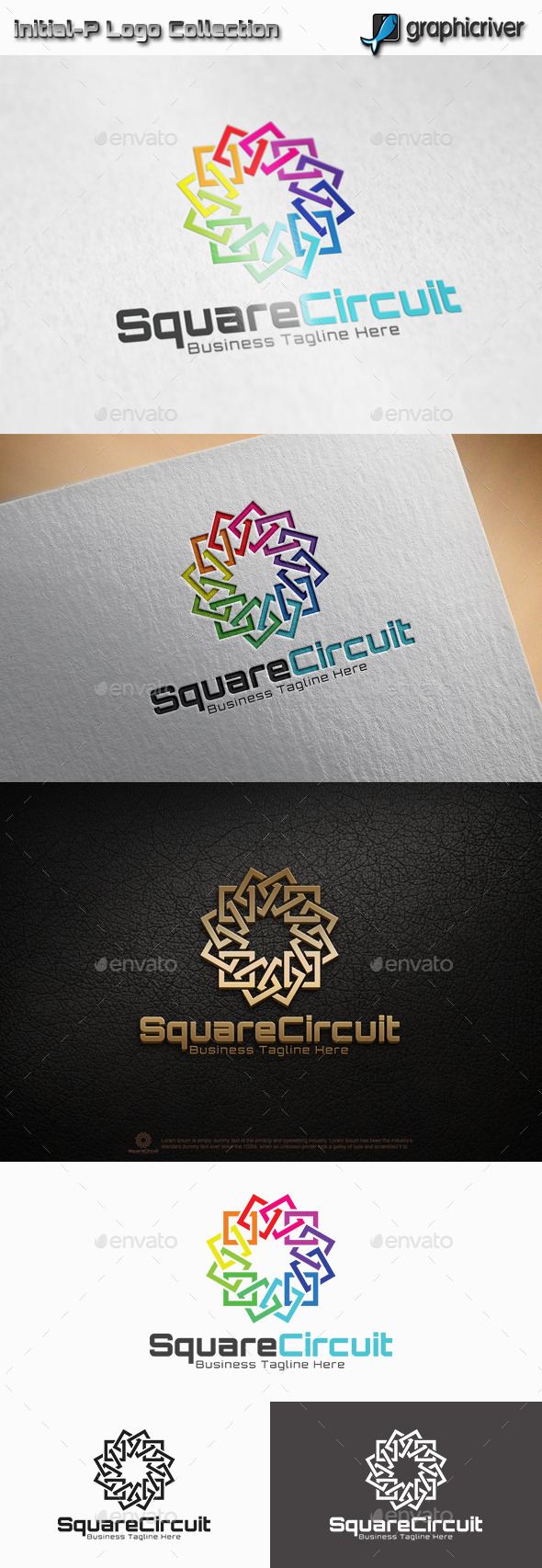 GraphicRiver Square Circuit Logo 11358844